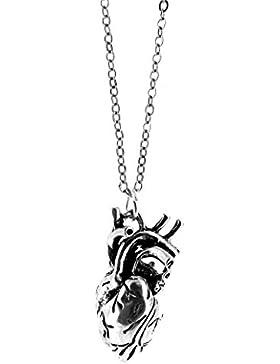 Anatomisch korrekte menschliche Herz Charm Halskette - Geschenk-Box