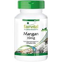 Manganèse 10mg - 90 gélules véganes - Substance pure - active le métabolisme enzymatique - Oligo-élément essentiel