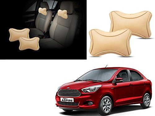 autopearl - premium make beige dots cv car neck rest pillow for - ford figo aspire Autopearl – Premium Make Beige Dots CV Car Neck Rest Pillow For – Ford Figo Aspire 41D3LuNlhKL