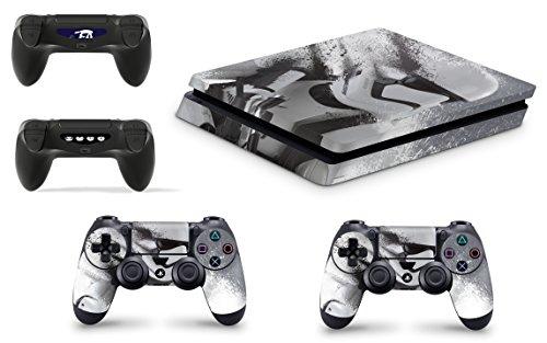 giZmoZ n gadgetZ GNG Playstation4 PS4 Slim Konsolen-Gehäuseaufkleber, Motiv: StarWars Battlefront Stormtrooper, Inklusive 2er-Set mit Aufklebern für Controller