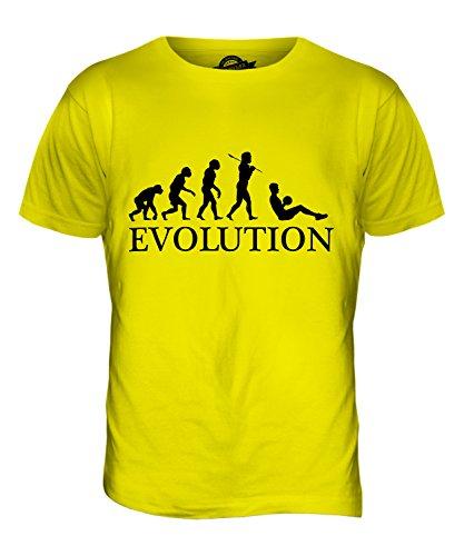 CandyMix Sit-Up Evolution Des Menschen Herren T Shirt Zitronengelb
