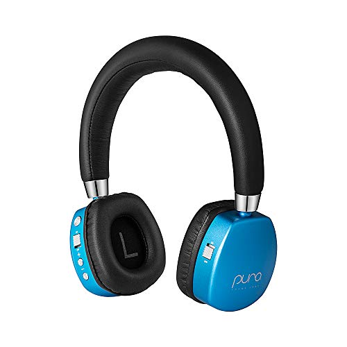 Puro Sound Labs PuroQuiet On-Ear Active Noise Cancelling Headphones for Kids/Teens/Children Wireless Bluetooth Volume Limiting Headphones (Blue) -