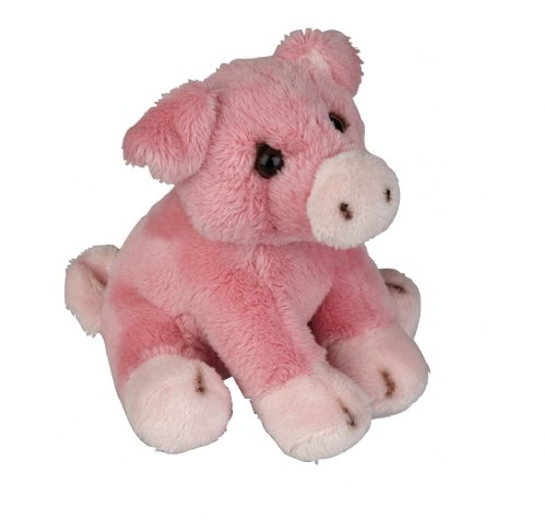 Plush Soft Toy Pink Pig from The Suma Collection by Ravensden. 15cm. FRS007PI