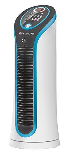 Rowenta Eole Compact VU6210F0 Tisch-Turmventilator, 3D Luftstromtechnologie, 3 Geschwindigkeitsstufen, leise (30 Watt) weiß/schwarz