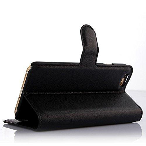 Coque iPhone 6 Plus/6S Plus,Manyip Téléphone Coque - PU Cuir rabat Wallet Housse [Porte-cartes] multi-Usage Case Coque pour iPhone 6 Plus/6S Plus,Classique Mode affaires Style B