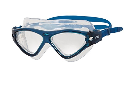 Zoggs Tri Vision Mask Schwimmbrille, Blue/Blue/Clear, onesize