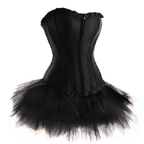 (Corsage Kleid Mini Rock Petticoat Tutu Korsett EUR(40-42) 2XL)