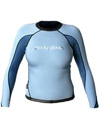 Body Glove Aura de la 1mm mujeres manga larga camiseta de surf, mujer, negro y azul