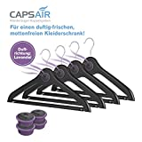 CAPSAIR Mottenschutz-Bügel   Kleiderbügel mit echten Lavendelblüten   Schützt die...