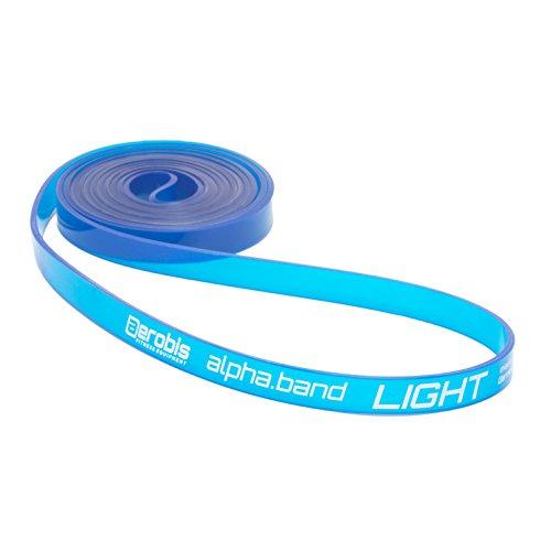 alphaband Widerstandsbänder   Funktionelle Fitness-Bänder für Krafttraining und Crossfit, Anti-allergen, latexfrei, inkl. Online DVD... (1 - Light)