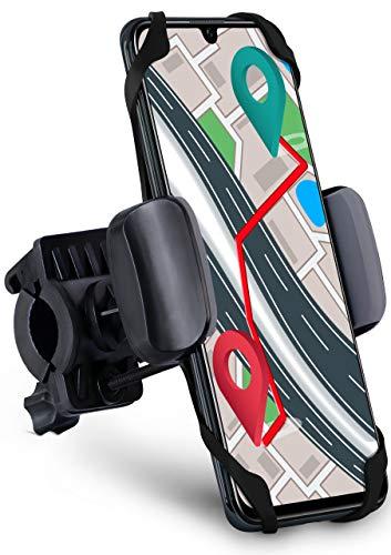 moex Fahrrad Handyhalterung dreh- und schwenkbar für alle Samsung Serien | Extrem starker Halt auch auf MTB - Umgreifende Fixierung + Klemmvorrichtung -