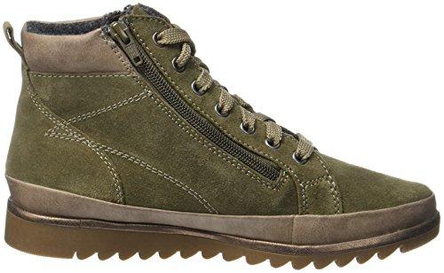 Jana Damen 25207 Combat Boots Grün (Olive)