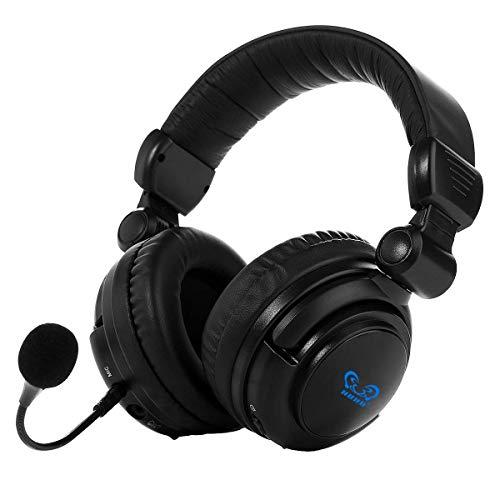 Winkona wireless Optical Gaming Headset compatibile con PS4PS3XBOX ONE PC USB Virtual 7.1cuffie microfono staccabile Nero