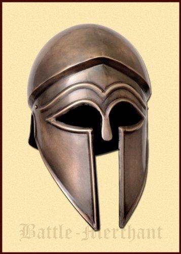 Battle-Merchant Italo Korintherhelm, Stahl in Antikfinish - Griechen - Antike - Helm - Gladiator