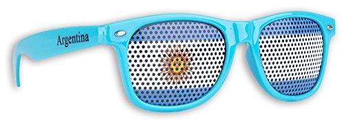 WM Fanbrille - Argentinien mit einem Logo - Sonnenbrille - Fan Artikel