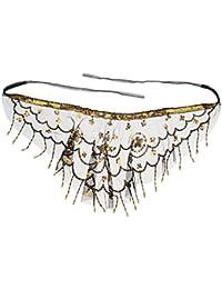 1484f5b22392b1 IPOTCH Voile de Visage en Mousseline à Bretelles Réglables avec Perles pour  Latin Moderne Salle de