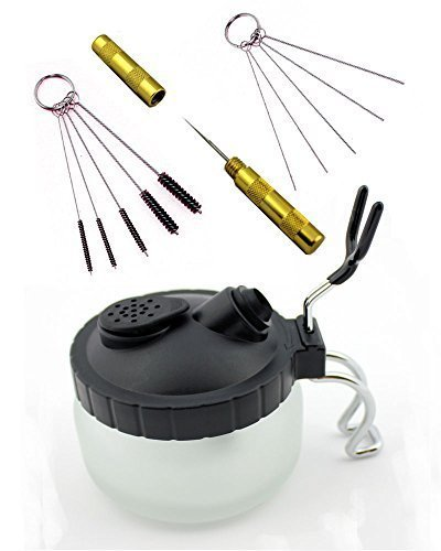 abest-4-set-airbrush-spray-gun-wash-cleaning-tools-needle-nozzle-brush-glass-cleaning-pot-holder