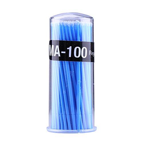 100 pcs brosses pour les cils des yeux, micro jetable extension de cils pinceau applicateurs de maquillage individuels brosse de mascara pour les femmes