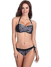 Feba Bikini Push Up Maillot de Bain 2 Pièces Ensemble Tops Soutien-Gorge  Culotte Vêtement 7b476172e9f