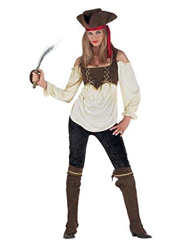 Chiber - Caribbean Pirate Kostüm - Piratenkostüm für Damen (Elizabeth Piraten Kostüm)