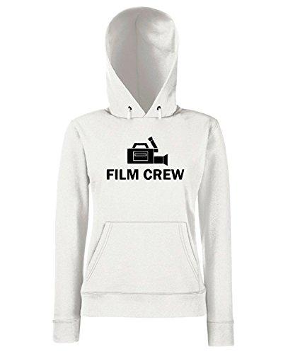 T-Shirtshock - Sweats a capuche Femme OLDENG00079 film crew Blanc