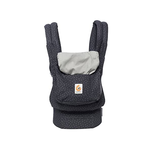 "Ergobaby Baby Carrier Toddler Front Back Original Starry Sky, 100% Cotton Ergonomic 3-Position Child Carrier Backpack Ergobaby Ergonomic Baby Carrier - Ergonomic for baby with wide deep seat for a spread-squat, natural ""M"" seated position. Baby carrying system with 3 carry positions:  front-inward, hip and back. From baby to toddler: 5.5*-15 kg (* from 3.2-5.5 kg / 7-12 lbs with Infant Insert, sold separately). Wearing comfort - All-day comfort with extra-padded shoulder straps (1 inch high density foam) and padded waistbelt  (1/4 inch) 1"