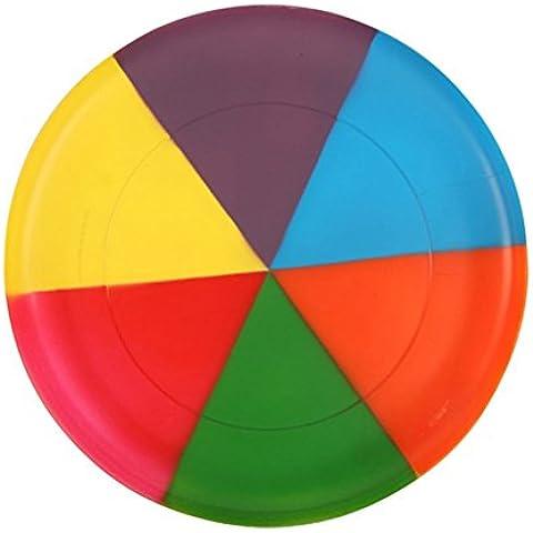 LEORX Volando disco de Frisbee platillo para niños mascotas perro(Arco Iris Color)