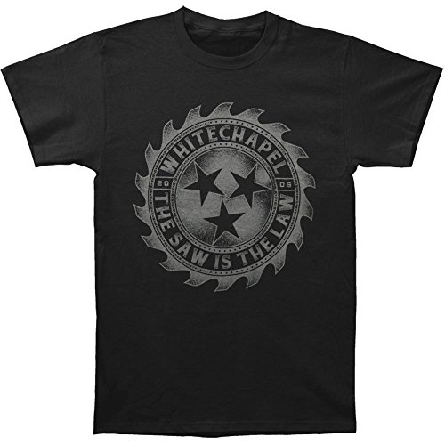 Arnoldo Blacksjd Whitechapel Men's Saw Is The Law T-shirt Black XXX-Large