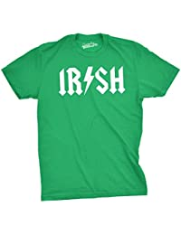 Irish Rockstar Band Logo T Shirt Funny Ireland Irish Heritage Tee