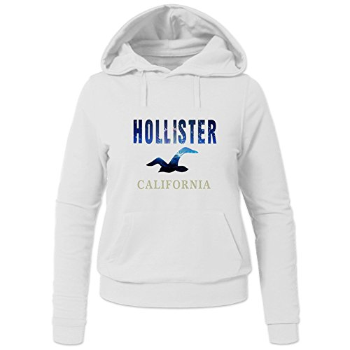 New Hollister Cotton Tops For Womens Printed Pullover Hoodies (Hollister Pullover Weiß)