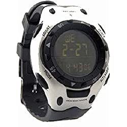 Inovalley Multifunctional Altimeter & Barometer Watch ALTI 03 - Black / Silver