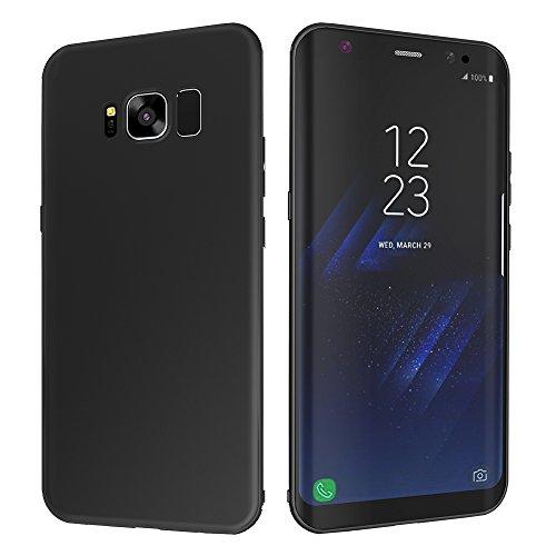 Galaxy S8 Schutzhülle, CAFELE Ultraslim Case TPU Micro Scrub Hülle für SAMSUNG S8 (Schwarz)