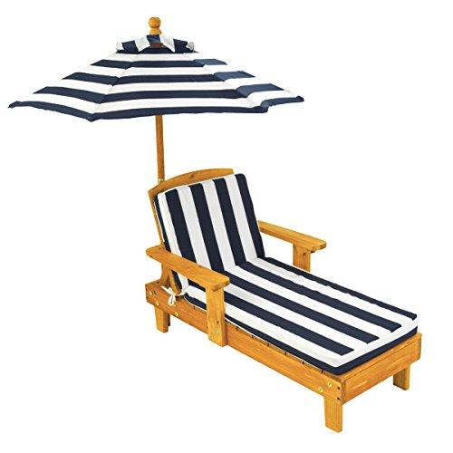 KidKraft infantil silla tumbona de exterior con paraguas chaise