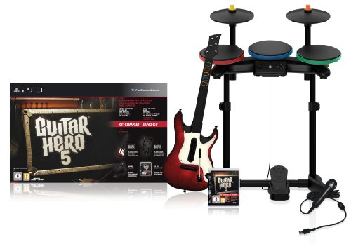 Guitar Hero 5 + guitare + batterie + micro