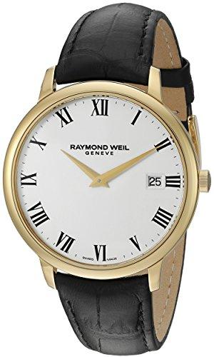 raymond-weil-homme-42mm-bracelet-cuir-boitier-ton-or-en-acier-inoxydable-quartz-montre-5588-pc-00300