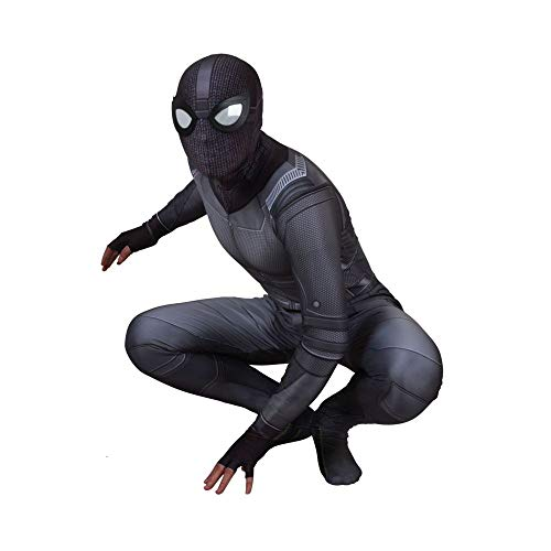Schwarzes Spiderman Kostüm Halloween Cosplay Sneak Bodysuit Kostümfest Requisiten Erwachsenes Kind ()