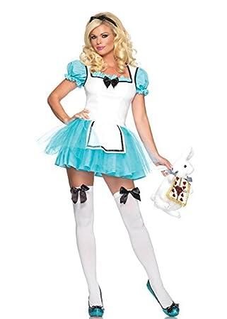 dbf5414010f Womens Cute Enchanted Alice In Wonderland Costume XS (UK6-8): Amazon ...