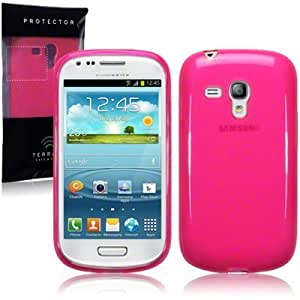 New Samsung i8190 Galaxy S3 Mini Pink Case Cover Gel Skin Protector The Keep Talking Shop® Accessories (Pink)