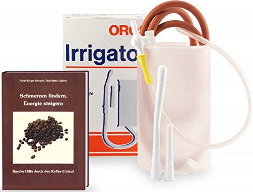 Kaffee-Einlauf - Set mit Irrigator und Buch