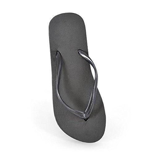 fb520a323 DINZIO Ladies Girls Plain Summer Beach Flip Flop Pool Shoes-Black - Buy  Online in Oman.