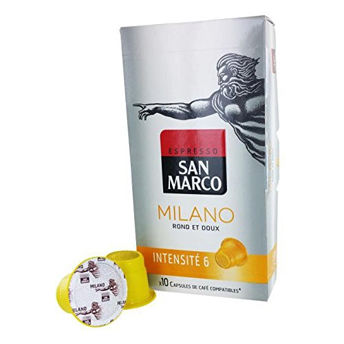 Preisvergleich Produktbild SAN MARCO Capsules Milano - Par 10 - Compatible Nespresso