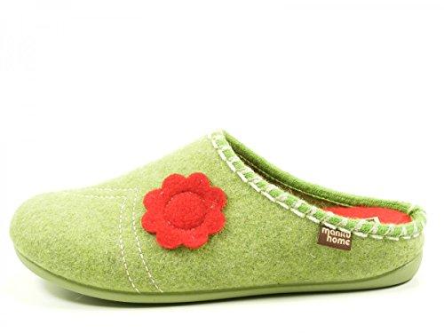 Manitu 320477-4 femmes chaussons Grün