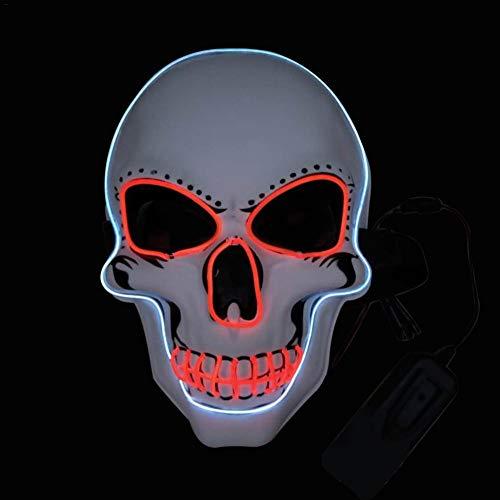 Beängstigend Kostüm Vintage - LED Kaltlicht Leuchtmaske, LED Kaltlicht Maske Musik Sound Control Leuchtende Leuchtmaske Halloween Dekor, Maskerade Maske Vintage Phantom Der Oper Eyed Face Kostüm