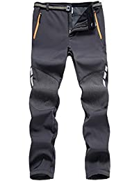 d208700abad9 7VSTOHS Pantaloni Outdoor da Uomo Pantaloni da Trekking Impermeabile  Antivento Traspirante Caldo Pantaloni da Caccia Pantaloni