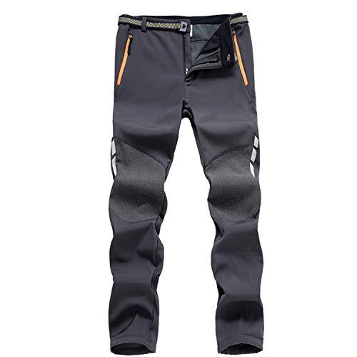 7VSTOHS Hombres Pantalones Softshell Fleece Impermeable