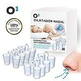 O³ Dilatador Nasal - 8 Antironquidos Nasal - 100% sin BPA - Remedio contra el Ronquido - Para mejorar la apnea del sueño y la respiración nasal