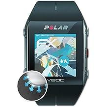 Polar V800 Folie - 3 x atFoliX FX-Curved-Clear flexible Schutzfolie für gewölbte Displays +++ vollflächiger Schutz bis zum Rand
