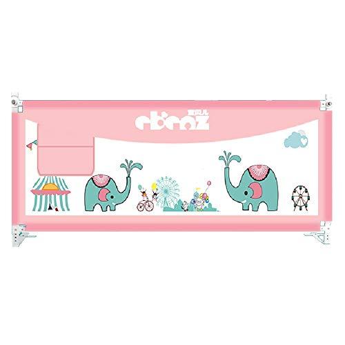 LHA Bettzubehö Schutzgitter für Kinder 1,5-2 Meter Universal-Schallwand-Bett-Zaun-Baby-Sicherheitsbett-Schutzgitter (Farbe : Rosa, größe : L-200cm)