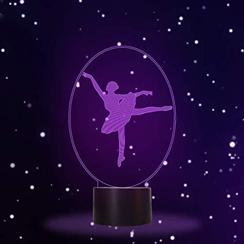 Ballett-Tanzen-Geschenke, 3D-Illusionslampe LED-Nachtlicht, Geschenke für Mutter, Geburtstagsgeschenk, Hochzeitsgeschenke, Großmutter-Geschenke, Valentines Abschluss Freundschaftsgeschenke