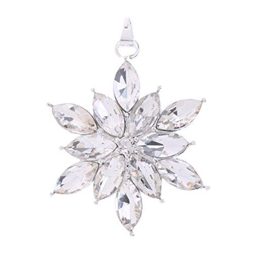 Sharplace Kristall Schneeflocke Anhänger Deko Für DIY Handwerk Hochzeit Weihnachten Geschenk - 3.5x3.5x0.5cm - Kristall-schneeflocke